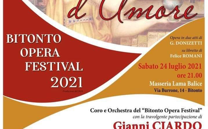 BOF 2021 - L'Elisir d'Amore con Gianni Ciardo